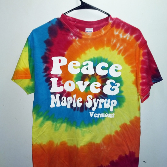 Other - TIE DYE T-SHIRT Vermont - Peace Love Maple Syrup